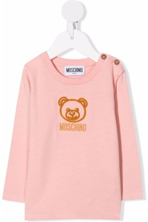 Moschino Kids Embroidered Teddy bear T-shirt
