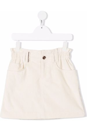 Brunello Cucinelli Corduroy mini skirt - Neutrals