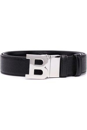 Bally B-buckle leather belt