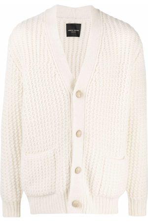 Roberto Collina Men Cardigans - Button-down alpaca-blend knit cardigan