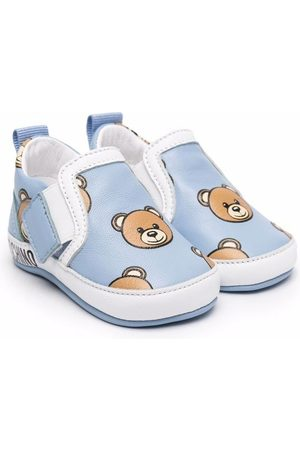 Moschino Toy bear print low-top sneakers