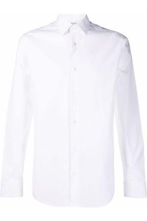 Z Zegna Men Long sleeves - Long-sleeve cotton-blend shirt