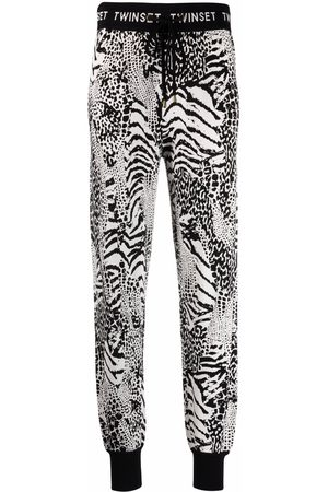 TWINSET Animal-print track pants