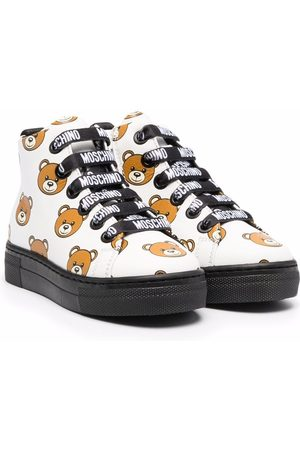 Moschino Toy bear printed ankle boots