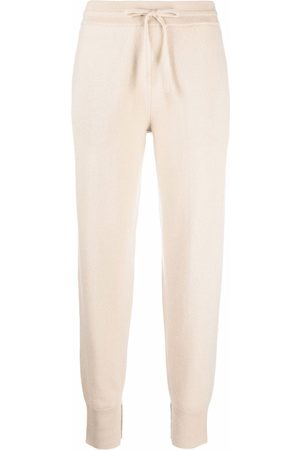 Theory Drawstring cashmere trousers - Neutrals