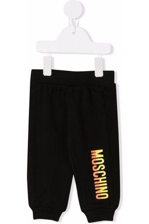 Moschino Kids Logo-print cotton track pants