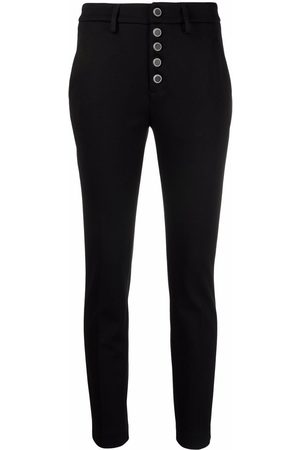 Dondup Women Skinny Pants - High-waisted slim-fit trousers