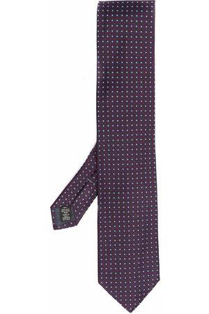 Ermenegildo Zegna Embroidered silk tie