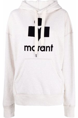 Isabel Marant Mansell logo-print hoodie - Neutrals