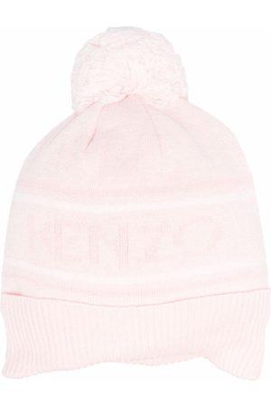 Kenzo Logo embroidered beanie hat