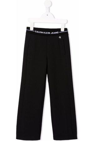 Calvin Klein Waistband-logo straight trousers