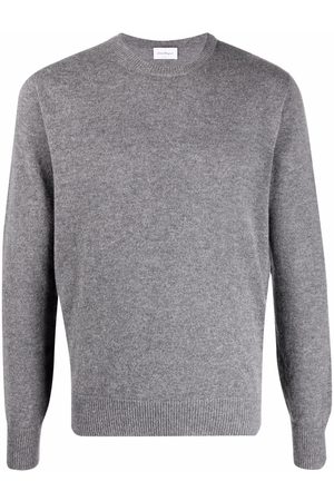Salvatore Ferragamo Fine-knit ribbed-trim jumper - Grey