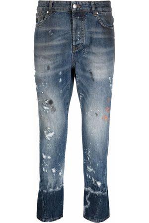 John Richmond Men Skinny - Faded distressed jeans