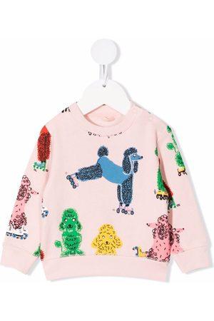 Stella McCartney Sweatshirts - Dog-print crew neck sweatshirt