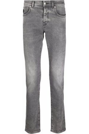 John Richmond Men Skinny - Rear logo-print jeans - Grey