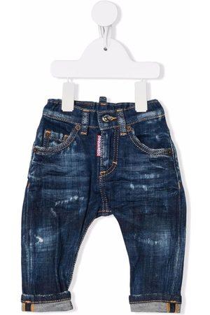 Dsquared2 Distressed-finish straight-leg jeans