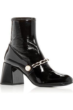 Miu Miu Women Heeled Boots - Women's Block Heel Booties