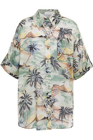 ZIMMERMANN Women Short sleeves - Woman Printed Cotton Shirt Light Size 1