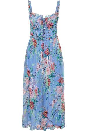 ZIMMERMANN Woman Bellitude Corset Cropped Floral-print Silk-georgette Jumpsuit Light Size 0