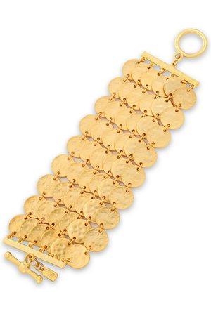 Kenneth Jay Lane Woman Hammered -tone Bracelet Size