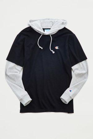 Champion Layered Tee Hoodie Sweatshirt