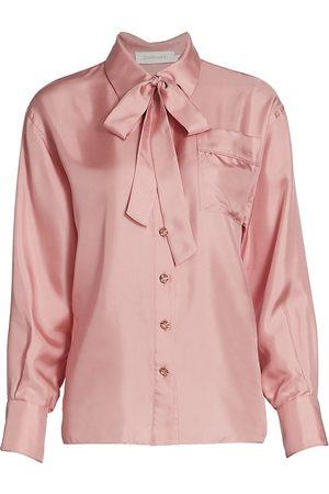 Zimmermann Women Sports T-shirts - Women's Concert Silk Pajama Shirt - - Size 4