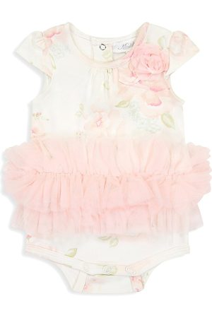Miniclasix Baby Girl's Floral Tutu Skirt Romper - Size 3 Months
