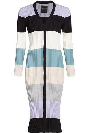 Le Superbe Women Cardigans - Women's Fruit Stripe Maxi Cardigan - Size Small