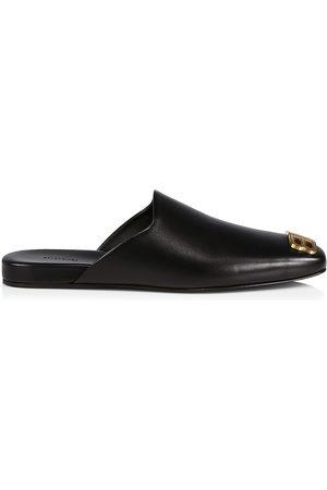 Balenciaga Men's Cosy BB Leather Mules - - Size 9