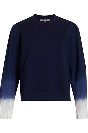 Derek Lam Women's Milton Dip-Dyed Sweatshirt - Navy - Size Medium