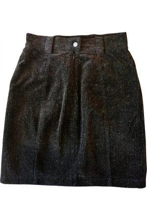 EMMANUELLE KHANH Grey Velvet Skirts