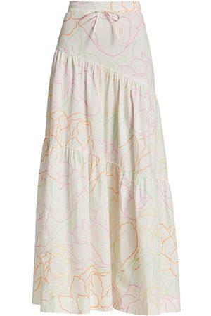 SWF Women's Escapism Floral Tiered Skirt - Freedom Floral - Size Medium