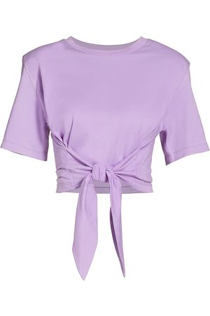 Le Superbe Women's Tied-Up Pima Cotton T-Shirt - Orchid - Size Small