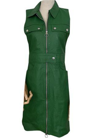 Hosbjerg Leather mid-length dress
