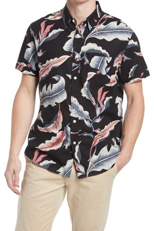Rails Men's Carson Stripe Short Sleeve Linen Blend Button-Up Shirt