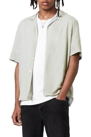 AllSaints Men's Venice Short Sleeve Button-Up Camp Shirt