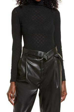 Open Edit Women's Long Sleeve Lace Bodysuit