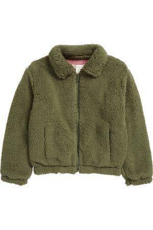 Treasure & Bond Girl's Kids' Reversible Fleece Bomber Jacket