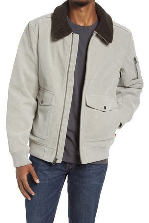 Levi's Men's Faux Suede Aviator Bomber Jacket With Removable Faux Shearling Collar