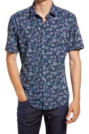 HUGO BOSS Men's Sharp Fit Short Sleeve Stretch Button-Up Shirt