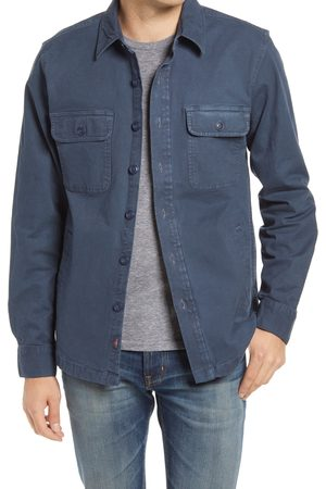 Faherty Men's Cpo Unlined Stretch Cotton Shirt Jacket