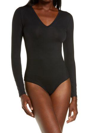 SPANXR Women's Spanx Suit Yourself Long Sleeve V-Neck Bodysuit