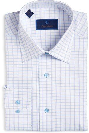 David Donahue Men's Check Dress Shirt