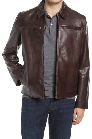 Cole Haan Men's Leather Racer Jacket