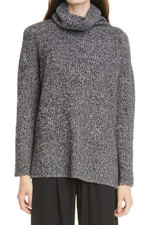Nordstrom Women's Funnel Neck Cashmere Tunic Sweater