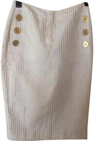 JC DE CASTELBAJAC Linen mid-length skirt