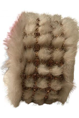 Swarovski Faux fur bracelet
