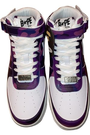 AAPE BY A BATHING APE Leather high trainers