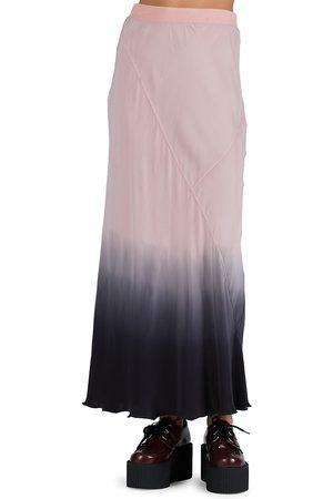 ATM Anthony Thomas Melillo Women's Silk Charmeuse Ankle-Length Skirt - Rose Ombre - Size Large