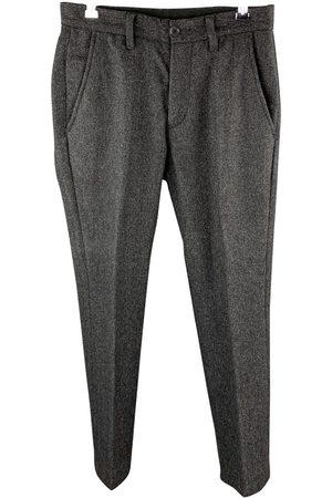 John Varvatos Grey Wool Trousers